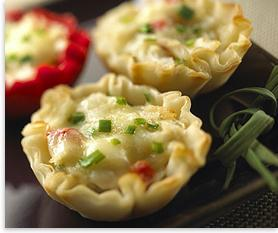 Baby Brie Crab Appetizers