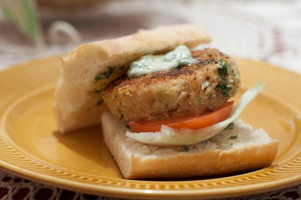Crab Burger With Herb Mayo