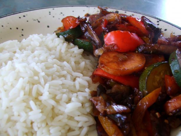 Pl's Vegetarian Salsa Stir-Fry