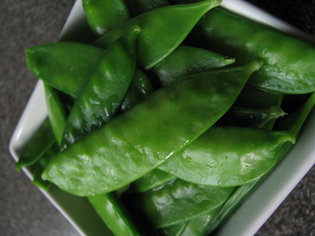 Buttered Snow Peas