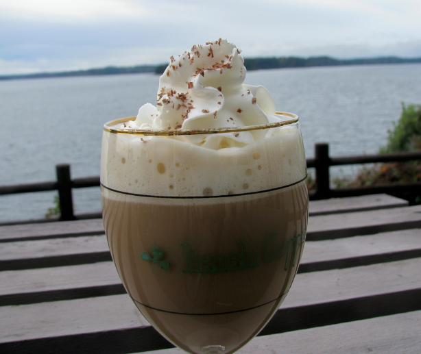 Irish Coffee with Bailey's and Kahlua