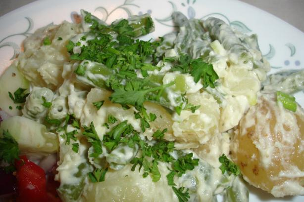 Dijon Potato Salad With Green Beans