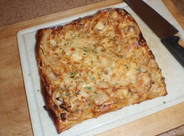 Mushroom Onion Gruyere Tart