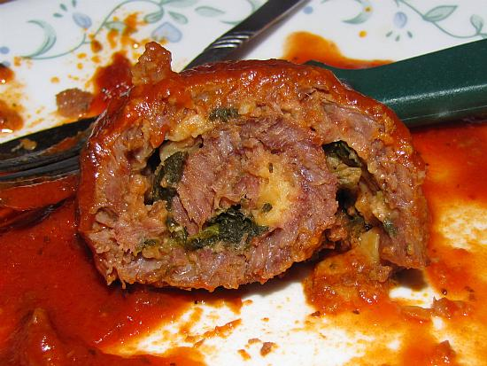 Jenner's Succulent Braciola, Italian Rolled Beef in Tomato Sauce