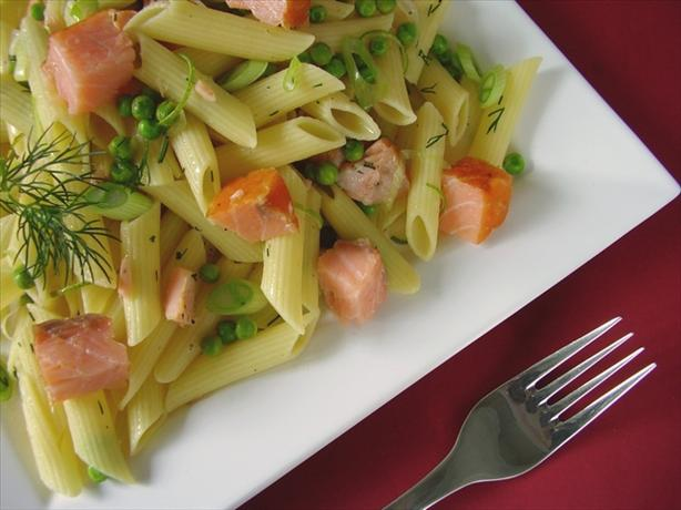 Penne With Smoked Salmon and Peas