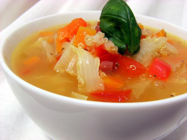 Yummy Vegan Veggie Quinoa Soup