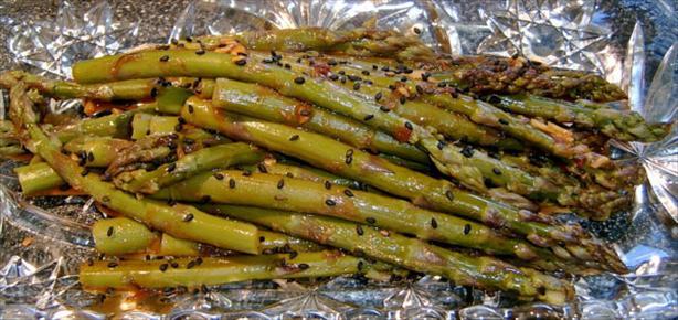 Ginger Sesame Asparagus