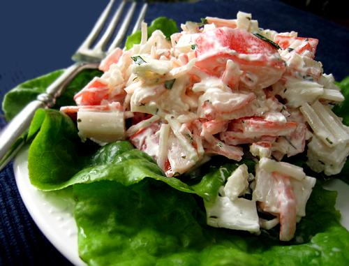 Crab-Cucumber Salad in Tomato Cups