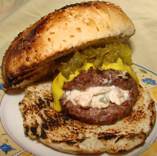 Kittencal's Jalapeno-Cream Cheese Stuffed Hamburgers