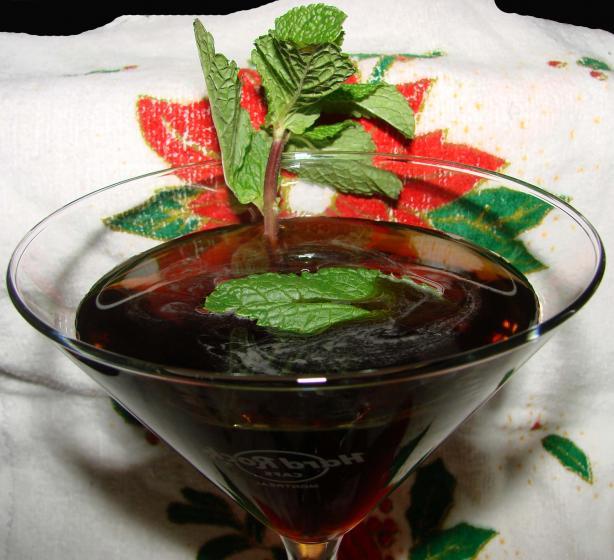 Black Santa Martini