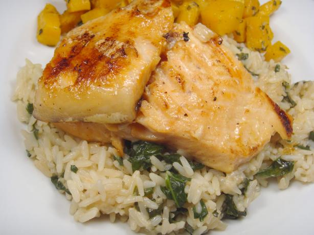 Grilled Dijon-Maple Salmon