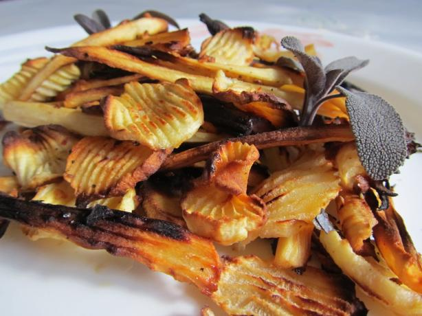 Roasted Parsnips With Shallots
