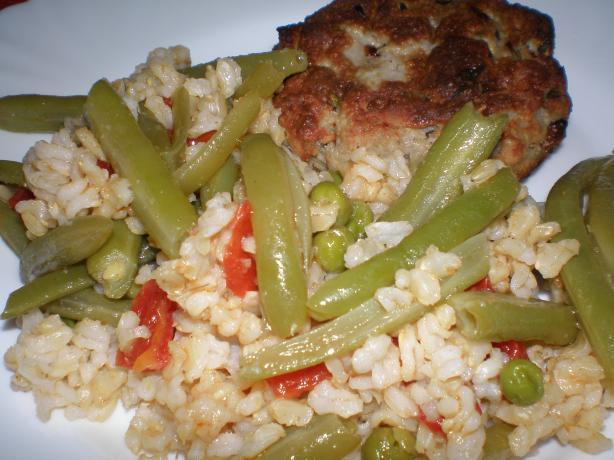 Easy Vegetarian Brown Rice Pilaf