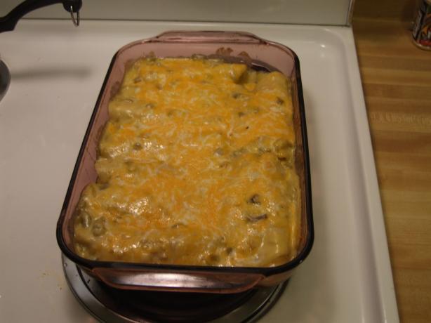 Ryan's Chicken BBQ Green Chilie Enchiladas - Easy