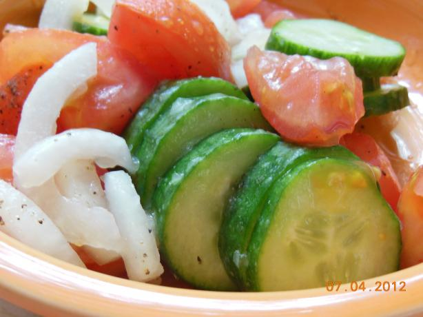 Grandma's Cowcumber Salad (Vegan Friendly)