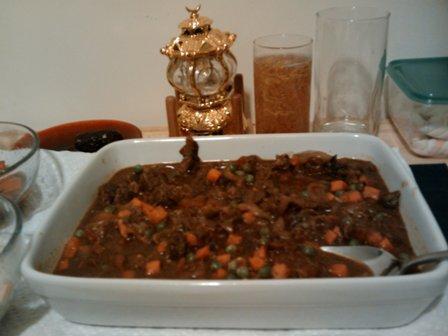 """Peas and Lamb, """"bisila Bil La7ma Fil Forn"""""""