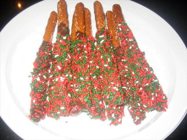 Linda's Chocolate Dipped Pretzel Rods