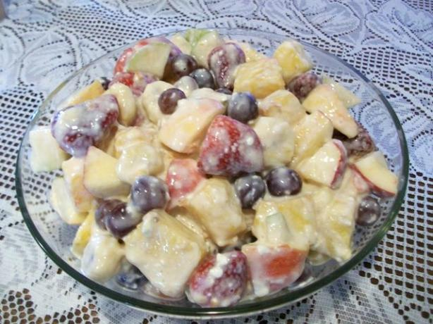 Marinated Fruit With Coconut Dressing