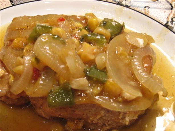 Creamy Poblano Pork Chops
