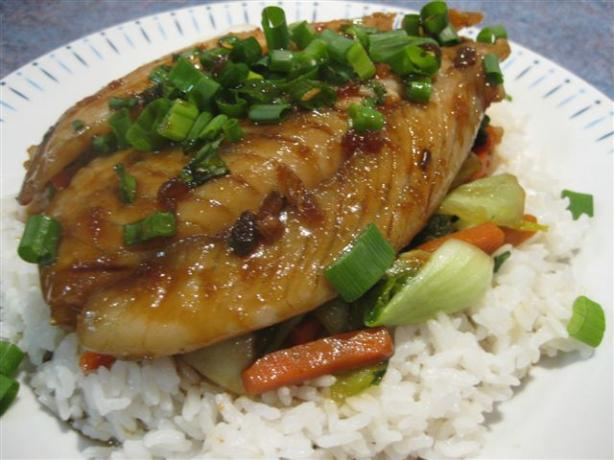 Sweet Soy and Ginger Fish