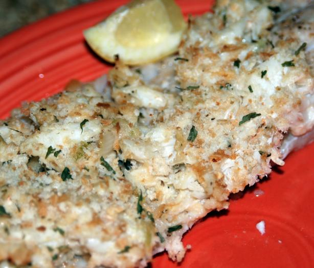 Crab-Topped Tilapia