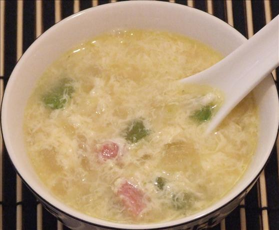 Ham and Egg Drop Soup