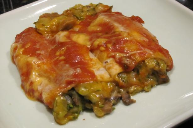 Enchiladas De Zucchini