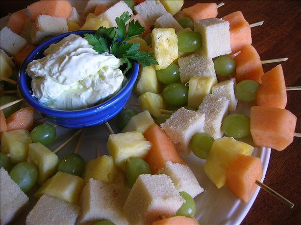 Fruit Kabobs with Margarita Dip