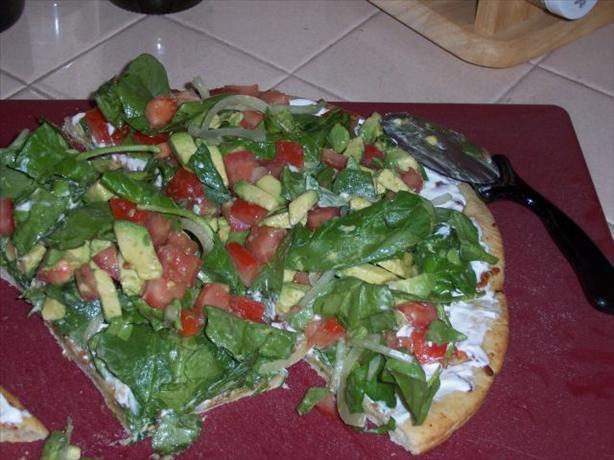 Drake Hogestyn's Salad Pizza
