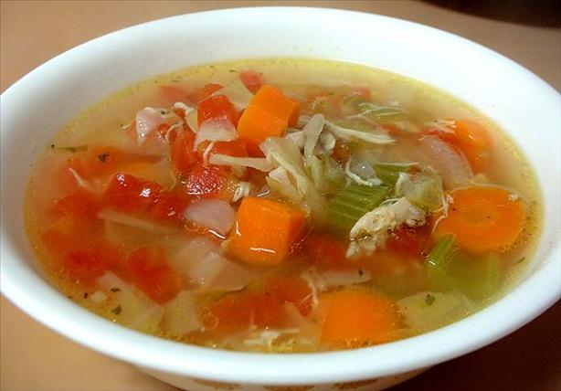 Cabbage and Tomato Chicken Soup