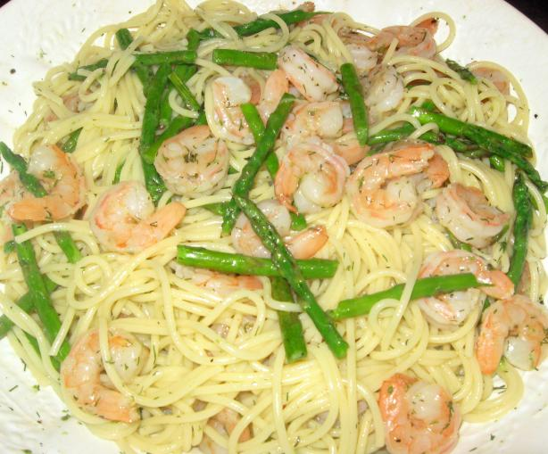 Linguine With Asparagus.