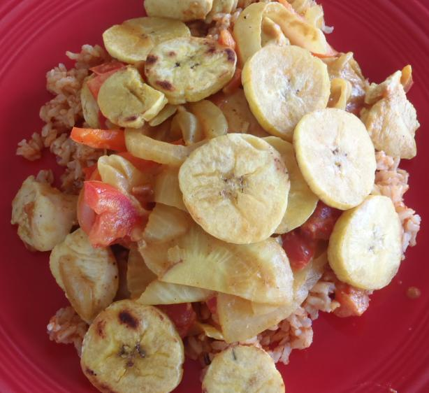Brown Rice With Fried Bananas from Angola