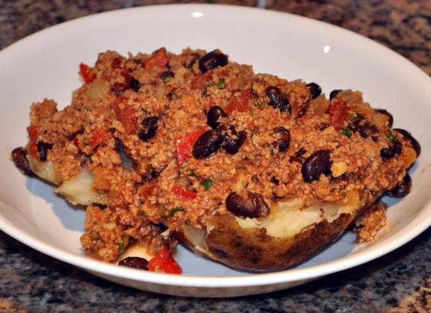 Tex-Mex Baked Potatoes With Chili