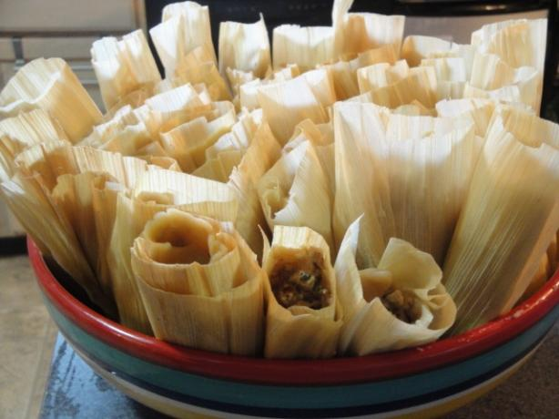 Green Chili, Chicken & Cheese Tamales