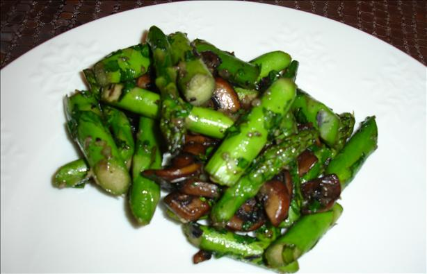 Asparagus and Mushroom Saute With Cilantro
