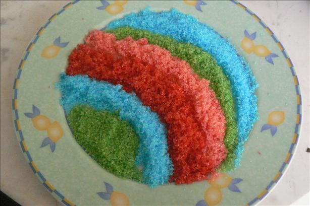 Rainbow Sugar Crystals