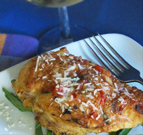 Bruschetta 'n Cheese-Stuffed Chicken Breasts