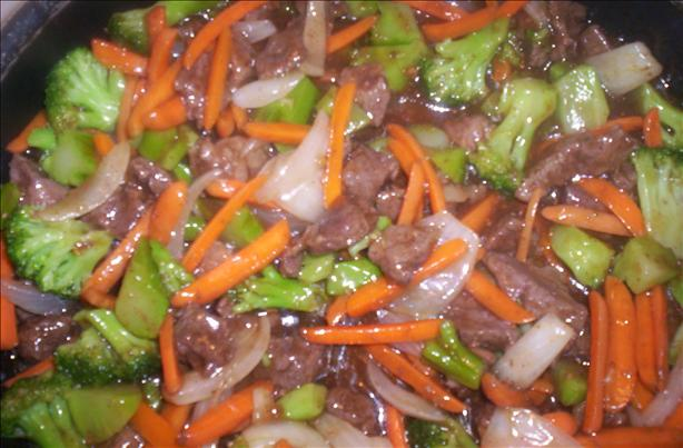 Oriental Style Beef Tips and Veggie Stir Fry
