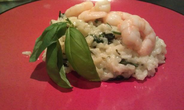 Lemon Risotto With Grilled Tiger Shrimp