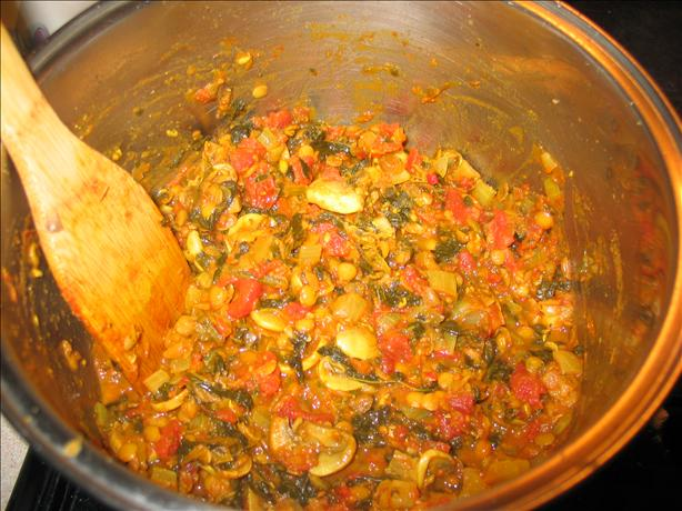 Spicy Lentils With Mushrooms