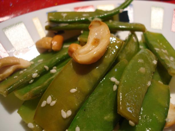 Snow Peas With Cashews