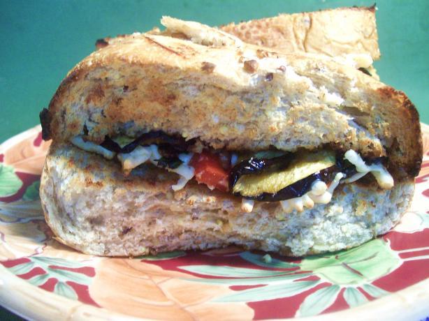 Eggplant and Mozzarella Sandwich