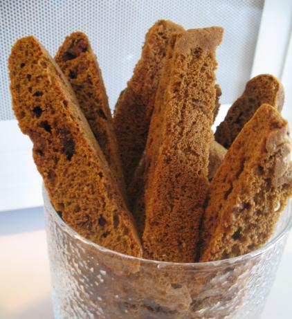 Coffee Chocolate Chip Biscotti (Diabetic Adaptations Given)