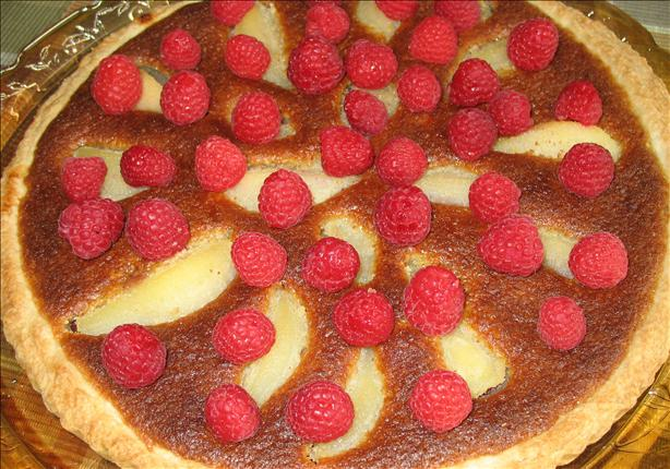 Pear and Raspberry Frangipane Tart