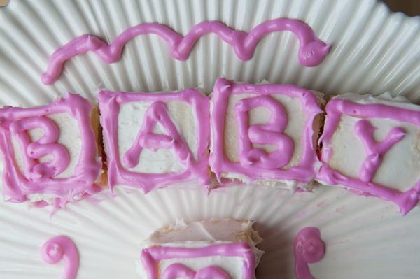 Baby Block Shower or Birthday Cake