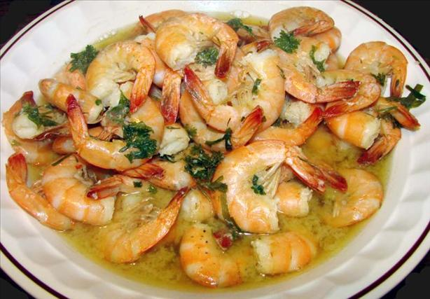 Shrimp Steamed in Beer
