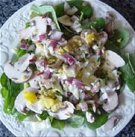 Champignon Salat Mit Ei (German Mushroom & Egg Salad)