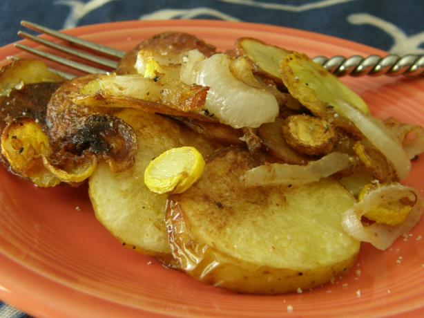Fried Potatoes and Squash