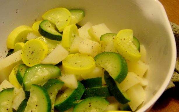 Squash, Zucchini and Potatoes