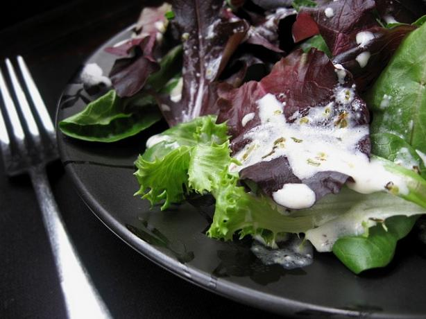 Mixed Baby Greens With Creamy Dressing